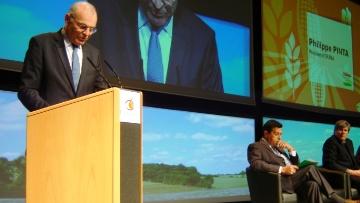 Philippe Pinta, président de l'Agpb au Sommet du végétal.