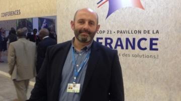 Bruno Dufayet, �leveur et porte-parole des actions agricoles pour le climat