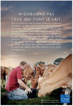 Une campagne pour valoriser «ceux qui font le lait»