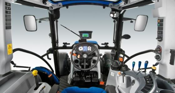 La cabine Visionview des T5 New Holland.