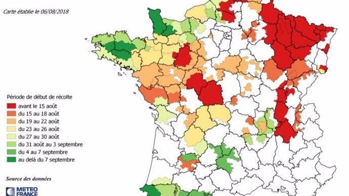 Estimation de la date de début de récolte des maïs fourrage par région