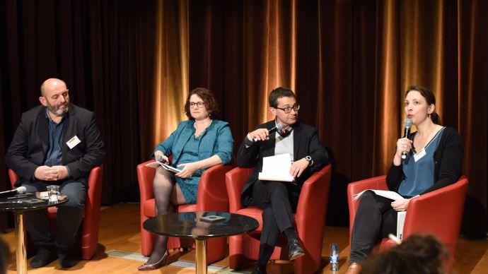 Controverses de l'agriculture et de l'alimentation, avec Bruno Dufayet (à gauche) et Amandine Lebreton (FNH, à droite)