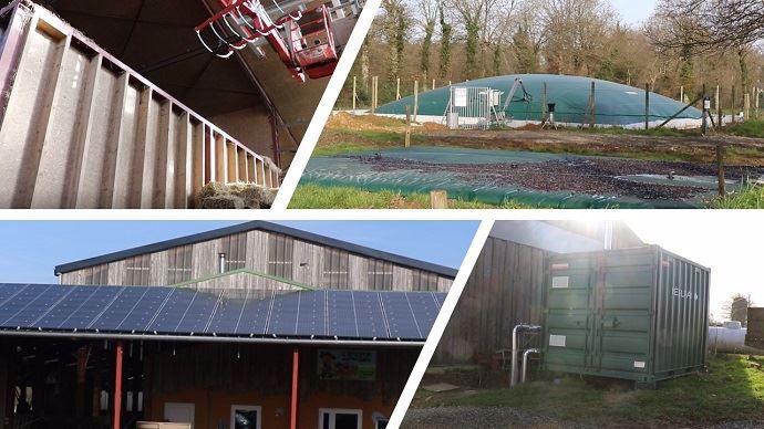 Séchoir en grange, panneaux solaires, micro-méthanisation, chaudière