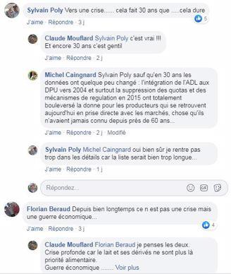 post facebook paroles de lecteurs web agri crise laitiere avec le covid 19