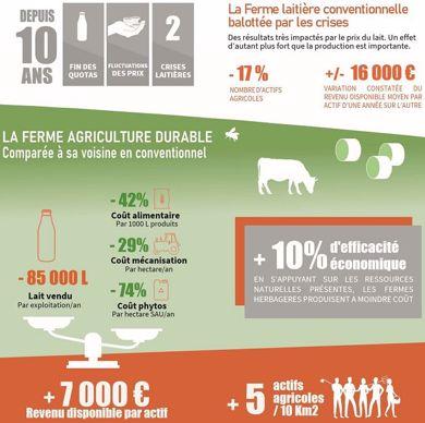 Mieux vivre en produisant moins de lait: durabilité des systèmes herbagers