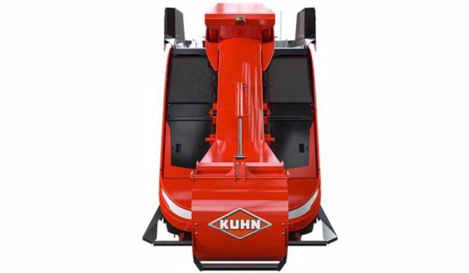 Mélangeuse automotrice autonome Aura de Kuhn (robot d'alimentation) vue de face