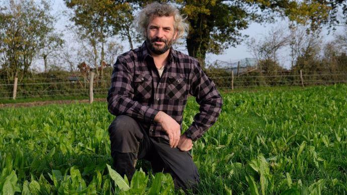 Hervé Pelé, éleveur laitier dans le Maine-et-Loire