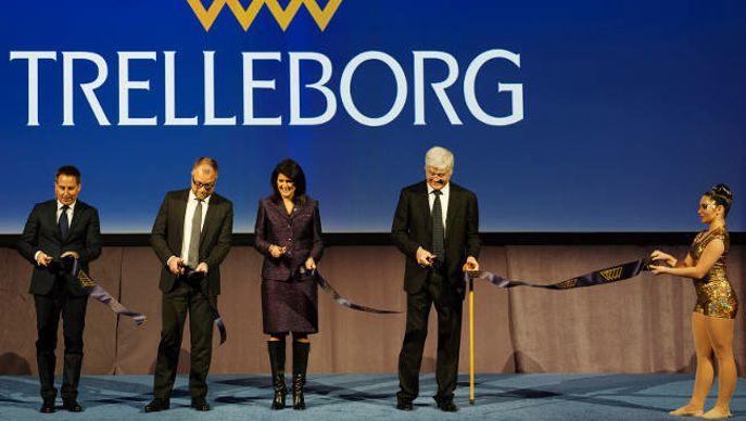 inauguration de l'usine Trelleborg à Spartanburg (Caroline du Sud)