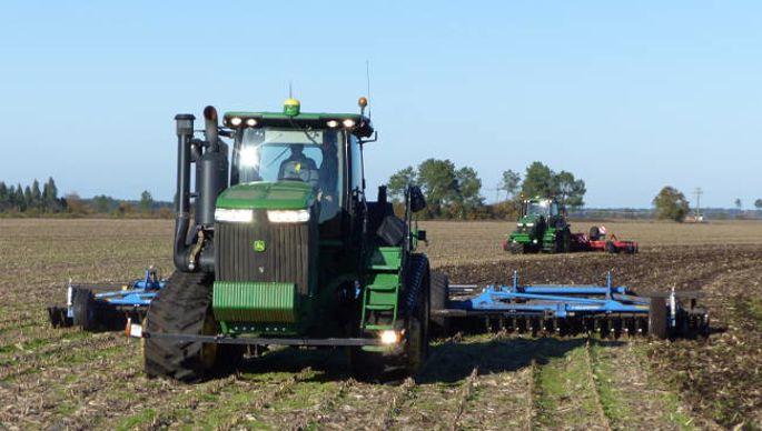 tracteur à chenilles John Deere