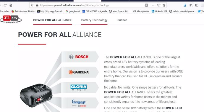 Le site web de l'alliance Power for All.