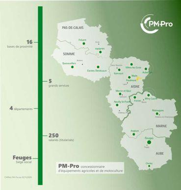 Carte des implantations de PM-Pro