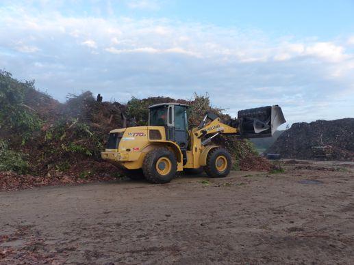 Trangétal : plateforme de transformation des déchets verts.