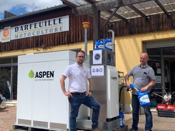 Dider Darfeuille et sa station Aspen Fuels