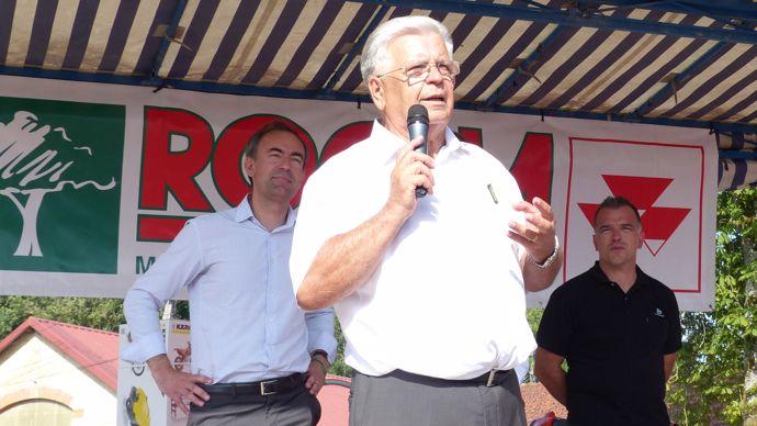 Bernard Rocha et Fabrice Pinel (Husqvarna), le partenariat avec la marque suédoise date de 1978.