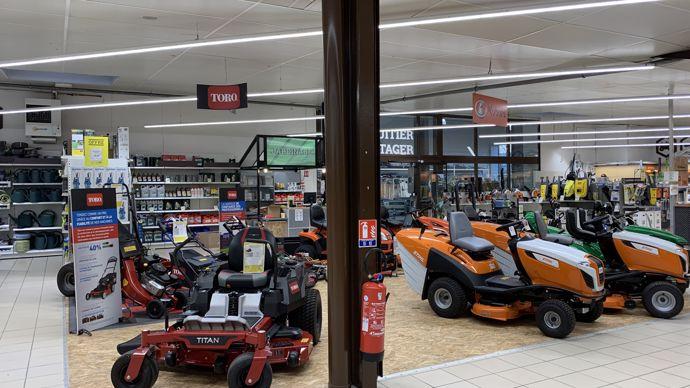 Le partenariat avec la marque Toro déjà effectif dans la partie grand public est renforcé sur le marché des matériels professionnels.
