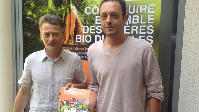 Christophe Lecuyer et Julien Bidaud, représentants de la commission filières biologiques de Coop de France