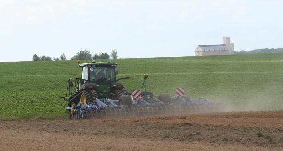 Paysage travail du sol