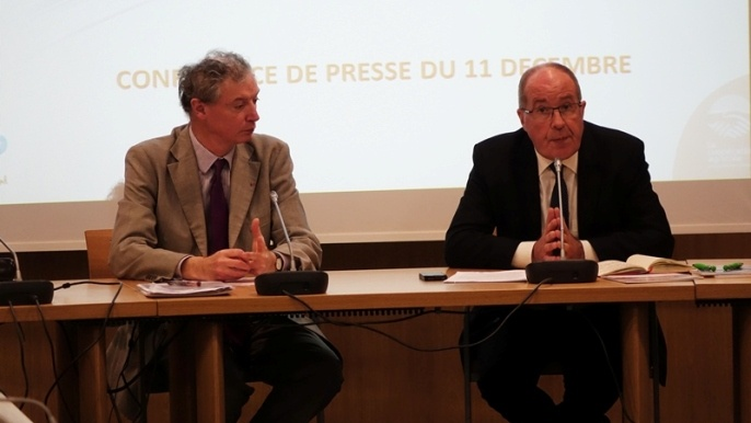 Philippe Mangin, président de Coop de France et Yves le Morvan, directeur (à gauche).