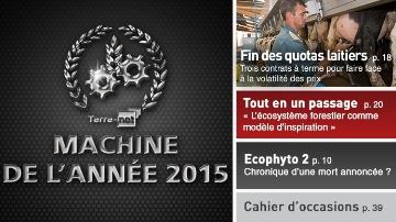Machines de l'année 2015 : pour l'élevage aussi !