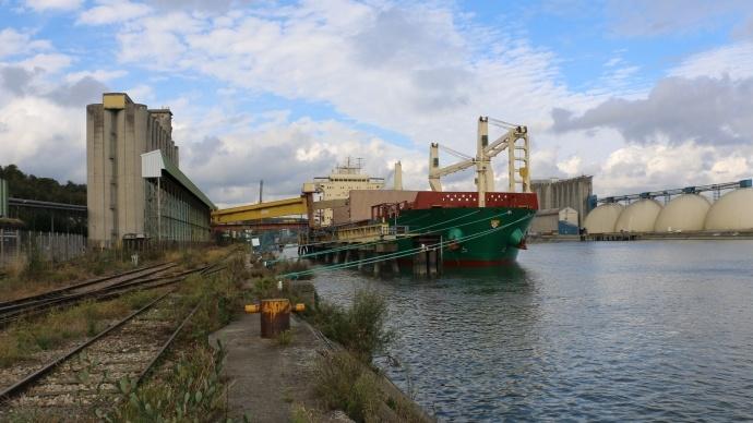 Exportations de céréales au port de Rouen