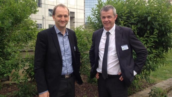 Luc Vermeulen et Stéphane Gérard, respectivement secrétaire général et président de la Fédération nationale des Cuma