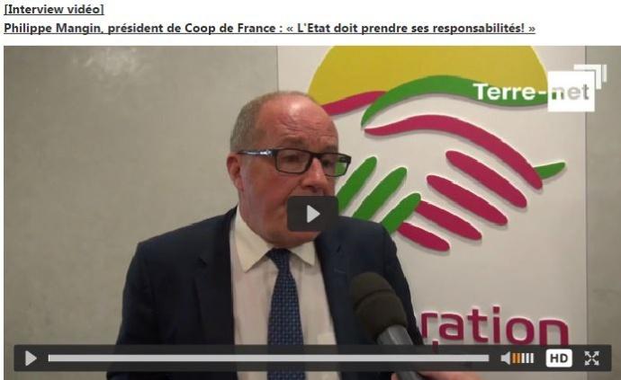 Interview de Philippe Mangin, président de Coop de France, après sa rencontre avec le président de la République François Hollande.