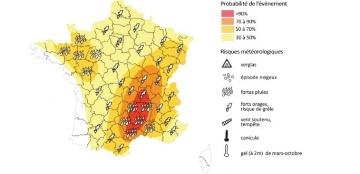 Pluies importantes, vent et grêle cet après-midi et demain dans toute la France