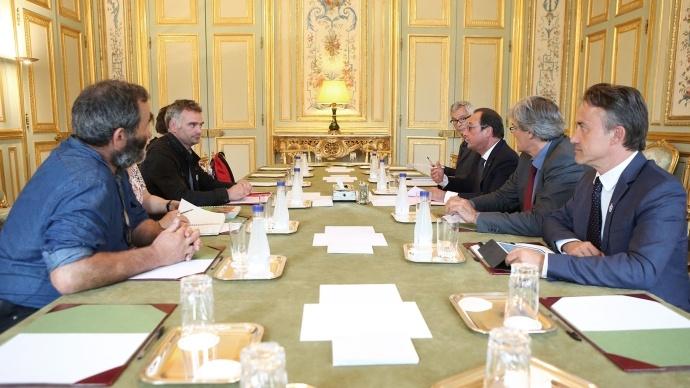 Une délégation de la Confédération paysanne, emmenée par son porte parole Laurent Pinatel, a été reçue jeudi 27 août par François Hollande.