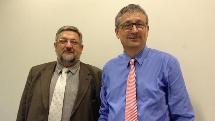 Thierry Manten et Pascal Cormery, respectivement vice-président et président de la Caisse centrale de la Msa pour 2015-2020.