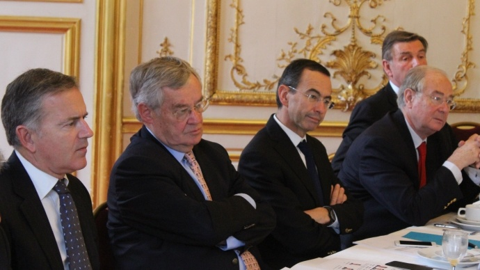 François Zocchetto, Jean-Claude Lenoir, Bruno Retailleau, Jean Bizet et Daniel Dubois.