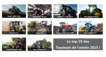 Le top 10 des tracteurs de l'année 2015