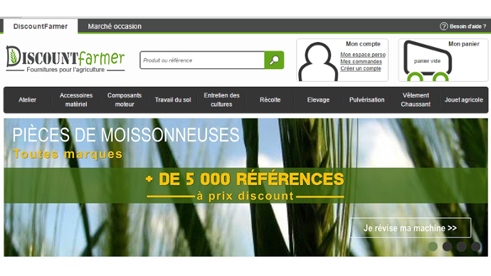 Le site Discountfarmer.com se lance dans l'occasion