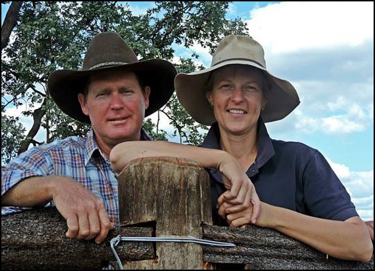 Jeff et sue trott eleveurs de bovins viande en australie