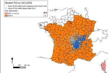 La zone réglementée FCO s'étend vers l'Ouest suite à un cas en Loire-Atlantique