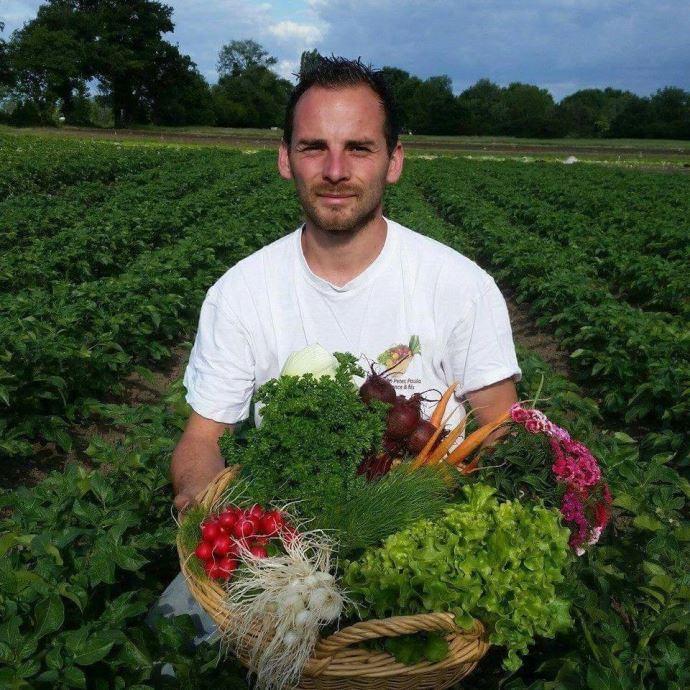 Nelson Dance, agriculteur maraîcher en Auvergne