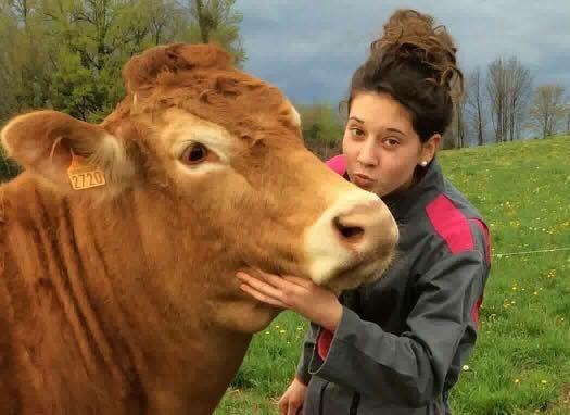 Clara Lasternas, fille d'agriculteur élève en lycée agricole en Haute-Savoie