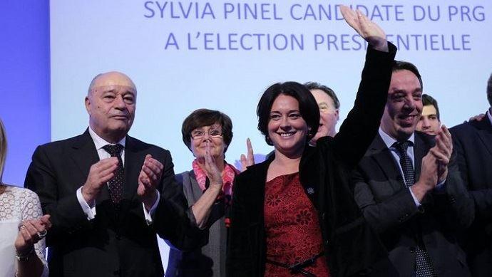 Sylvia Pinel, candidate du Parti radical de Gauche à la primaire de la Gauche et à l'élection présidentielle 2017.