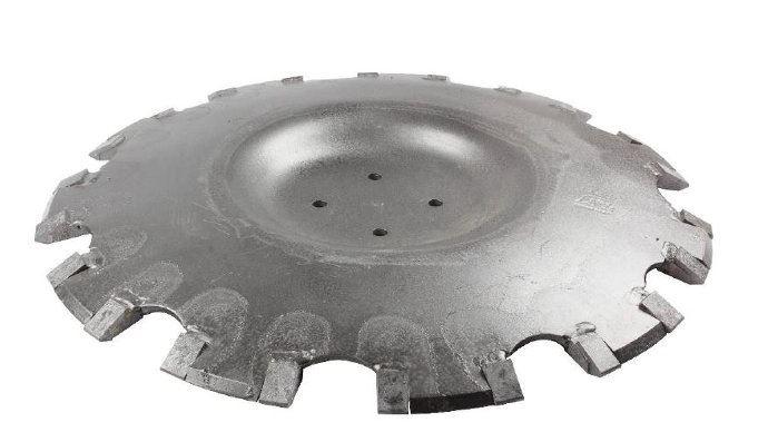 Les plaquettes de carbure sur le disque permettent de prolonger la durée de vie