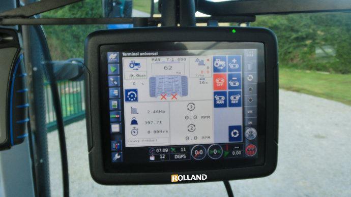 Rolland Rollcontrol X30, terminal tactile couleur de 12'', le plus grand terminal pour épandeur