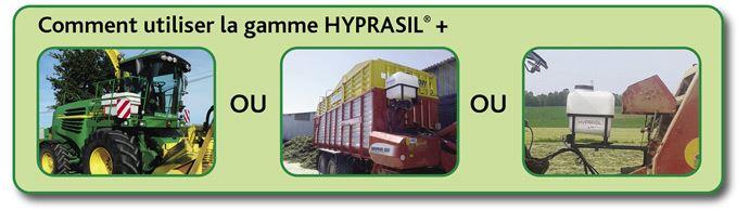 Exemple de montage de cuves pour l'utilisation de l'HYPRASIL GREEN + sur ensileuse, autochargeuses et enrubanneuses (©HYPRED).