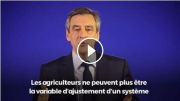 F. Fillon promet des mesures pour répondre à la «détresse» des agriculteurs