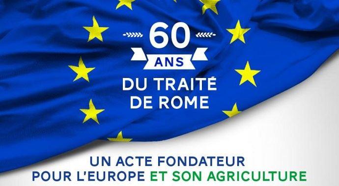 Le traité de Rome, acte fondateur de l'actuelle Union européenne, a été signé le 25 mars 1957.