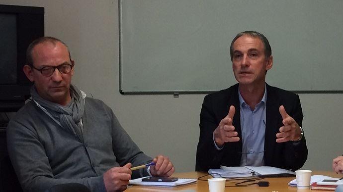 Thierry Roquefeuil (à droite), président de la FNPL, aux côtés d'André Bonnard, secrétaire général du syndicat.