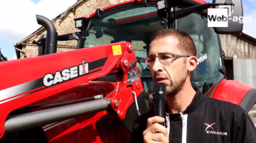 G. Morel: «Un débit hydraulique utile pour les travaux au chargeur frontal! »