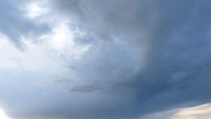 ciel annoncant la pluie