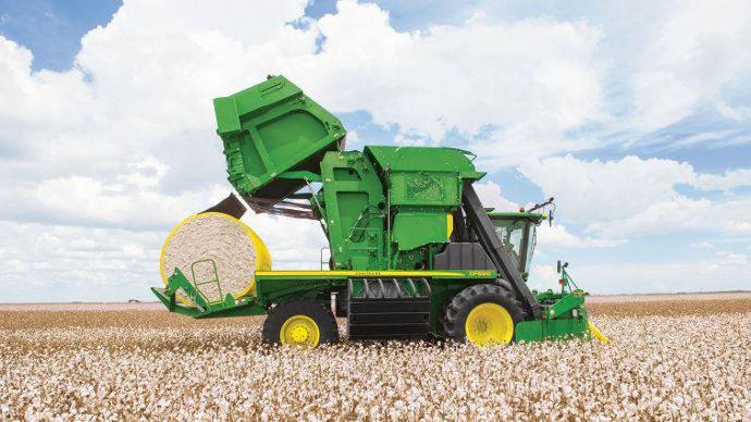 John Deere CP690, l'agriculture de précision pour le coton