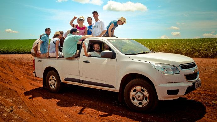 Un groupe lors d'un voyage Agrilys au brésil à la découverte de ce pays fortement agricole
