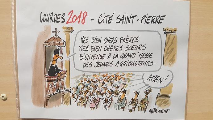 Congrès Jeunes agriculteurs à Lourdes