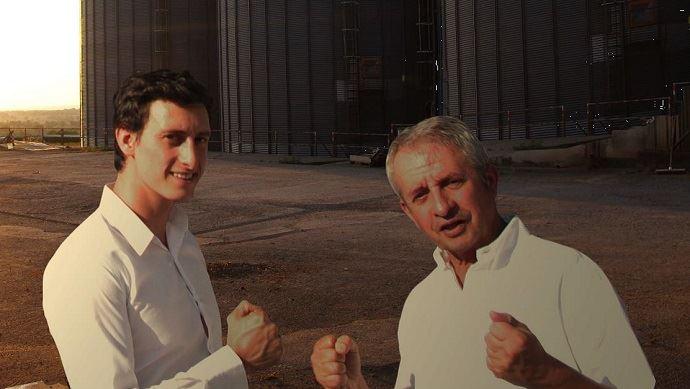 Raphaël et Gilles Jeudy, les dirigeants du négoce agricole éponyme, basé dans l'Allier et rayonnant sur quatre départements du centre de la France.