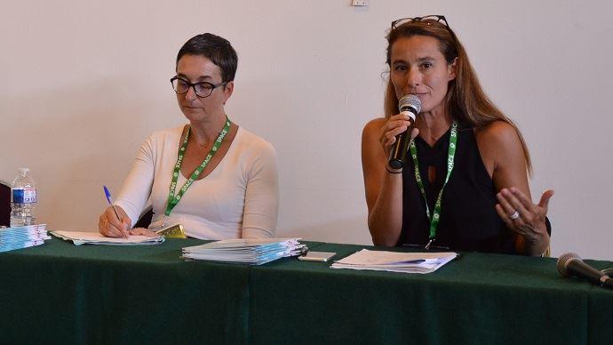 Valérie Webber-Haddad, de l'Ademe et Anne Lafferravie, de GRDF, ont expliqué l'importance de communiquer dès l'émergence de son projet pour le faire accepter par ses concitoyens.